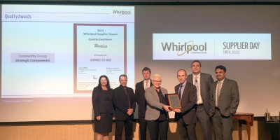 Copreci receives Supplier Quality Excellence Award from Whirlpool